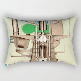Marine Diesel Engine Rectangular Pillow