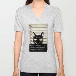 Kitty Mugshot Unisex V-Neck