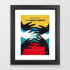 No468 My Y Tu Mama Tambien minimal movie poster Framed Art Print