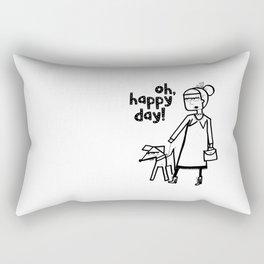 Oh, happy day! Rectangular Pillow