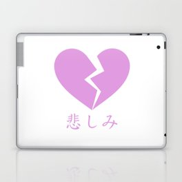 BROKEN HEART - SAD JAPANESE ANIME AESTHETIC Laptop & iPad Skin