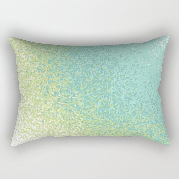 Abstract Green Blend Rectangular Pillow