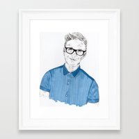 tyler oakley Framed Art Prints featuring Tyler Oakley by Sophie Melissa