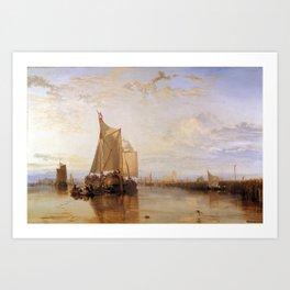 William Turner - The Dort Packet-Boat from Rotterdam Becalmed Art Print