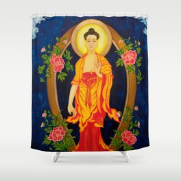 The Jewel in the Lotus Shower Curtain