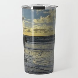 sunset on texel Travel Mug