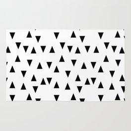 Triangles black and white modern design Rug