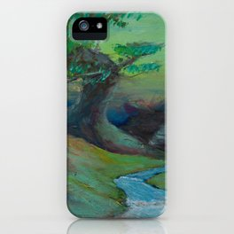 Dream planet of green sunset iPhone Case