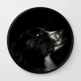 Border Collie Portrait - Bamboo Wall Clock