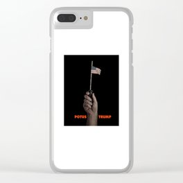 POTUS Trump for the middle class. Clear iPhone Case