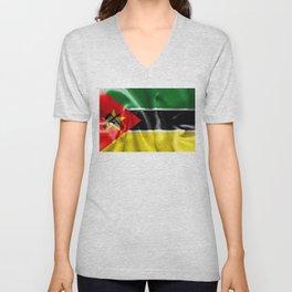 Mozambique Flag Unisex V-Neck