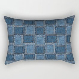 Denim Patch Rectangular Pillow