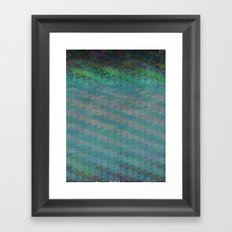 sifting over fence transitions Framed Art Print