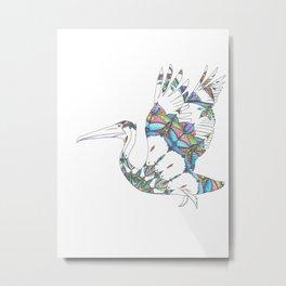 Mandala Pelican Metal Print