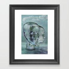 Glasmensch im Internet Framed Art Print