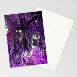 Trees Purple Moss Stationery Cards