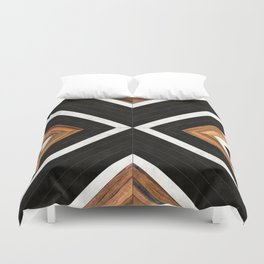 Urban Tribal Pattern No.1 - Concrete and Wood Duvet Cover