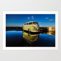 volkswagen Art Prints featuring volkswagen bus  by Aaron Joslin Photography