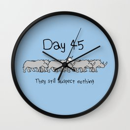 Day 45: They Still Suspect Nothing (Unicorn and Rhinos) Wall Clock