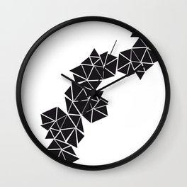 Illustration of irregular triangles Wall Clock
