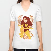 saga V-neck T-shirts featuring The Dark Saga by ChristianCGTomas