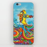 yellow submarine iPhone & iPod Skins featuring The Yellow Submarine by Nick Swann