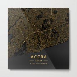 Accra, Ghana - Gold Metal Print