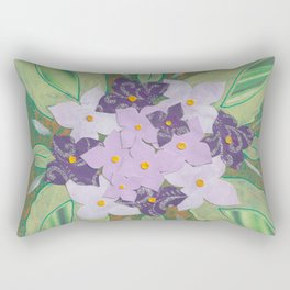 Hortensia Roxa Rectangular Pillow