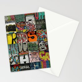 grafitti collage Stationery Cards