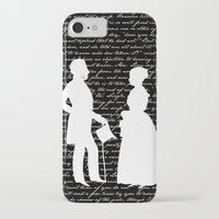 pride and prejudice iPhone & iPod Cases featuring Pride and Prejudice design by Evie Seo
