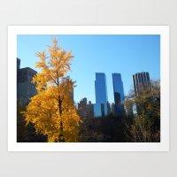 Central Park - Fall Art Print