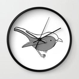 Robin- Black Wall Clock