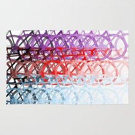 Bicycles palette Rug