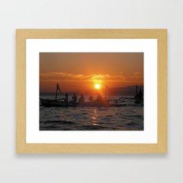 Bali Sunrise Framed Art Print