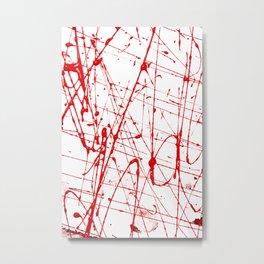 Blood spray Metal Print