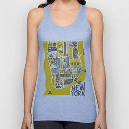Manhattan New York Map Unisex Tank Top