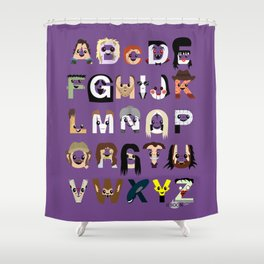 Horror Icon Alphabet Shower Curtain