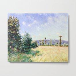 Alfred Sisley - Sahurs Meadows in Morning Sun Metal Print