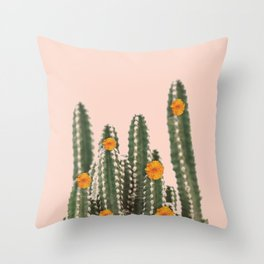 Cactus & Flowers Throw Pillow