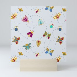 Bugs n butterflies Mini Art Print