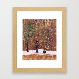 Someone Stole My Wood Framed Art Print