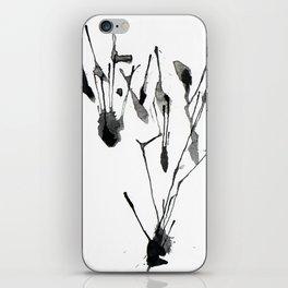 zebra ink splatter iPhone Skin