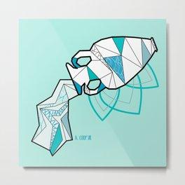 Geometric aquarius astrology  Metal Print