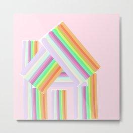 Striped House Metal Print