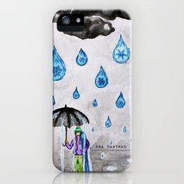 Raining Snow by Ama Hartman  iPhone Case