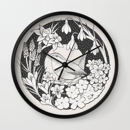 Spring Wren Wall Clock