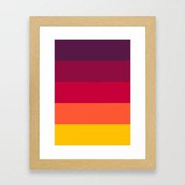 California Sunset - Favourite Palettes Series Framed Art Print