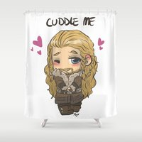 fili Shower Curtains featuring Cuddle me by AlyTheKitten