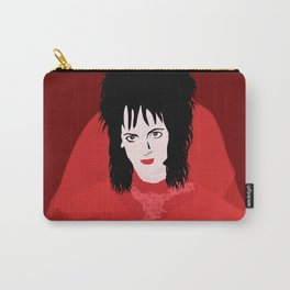 Lydia in Red on Maroon Carry-All Pouch