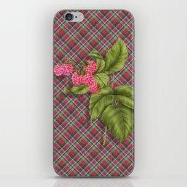 Juicy Pink Raspberries iPhone Skin